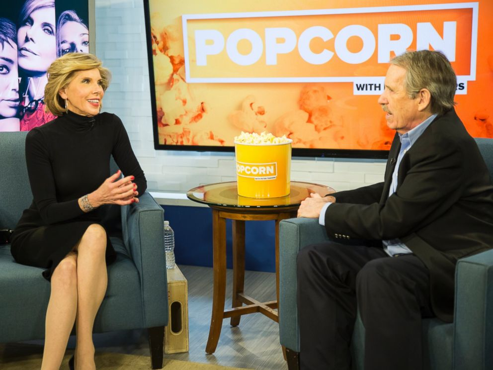 PHOTO: Christine Baranski and Peter Travers at the ABC News studios in New York, Feb. 15, 2017.