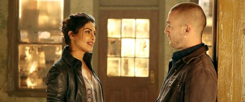 "PHOTO: Priyanka Chopra, as Alex Parrish, and Jake McLaughlin, as Ryan Booth, in a scene from ""Quantico."""