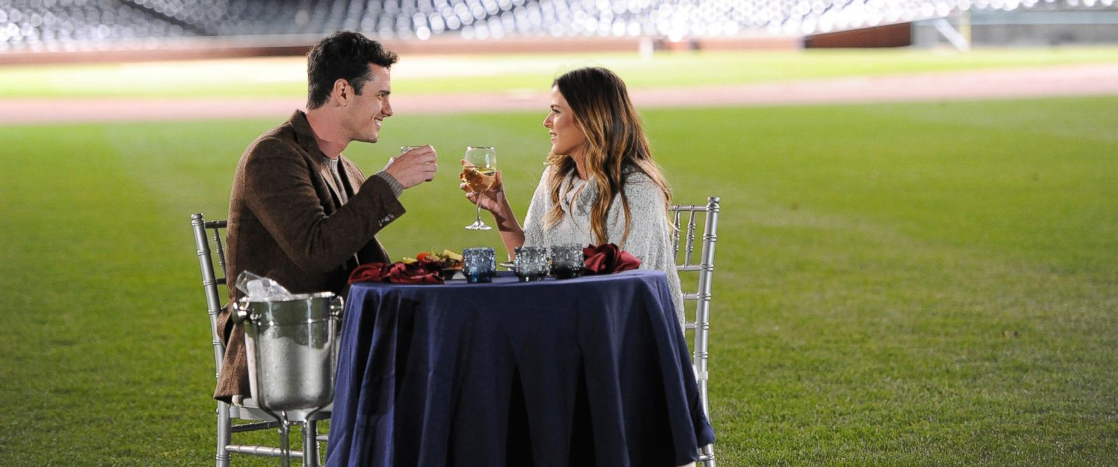 PHOTO: Ben Higgins enjoys a date with Jo Jo at Wrigley Field.