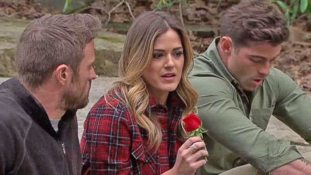 PHOTO: Jojo Fletcher giving out a rose on
