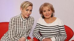"PHOTO: Miley Cyrus shown here with Barbara Walters for the ABC News special, ""Barbara Walters Presents: The 10 Most Fascinating People of 2013."""