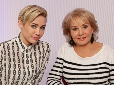 PHOTO: Miley Cyrus shown here with Barbara Walters for the ABC News special, Barbara Walters Presents: The 10 Most Fascinating People of 2013.