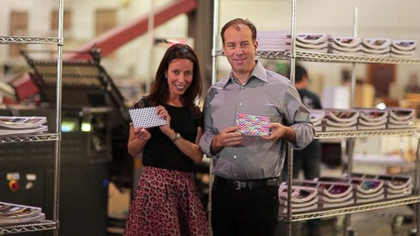 """PHOTO: Brian and Julie Whiteman pitched their product, the GrooveBook app, on ABCs """"Shark Tank."""""""