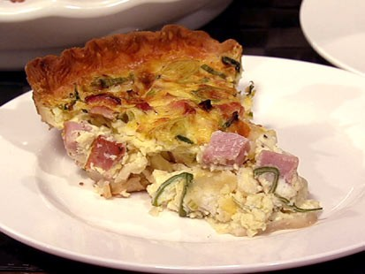 Carla Hall's Gruyere ham quiche is shown here.