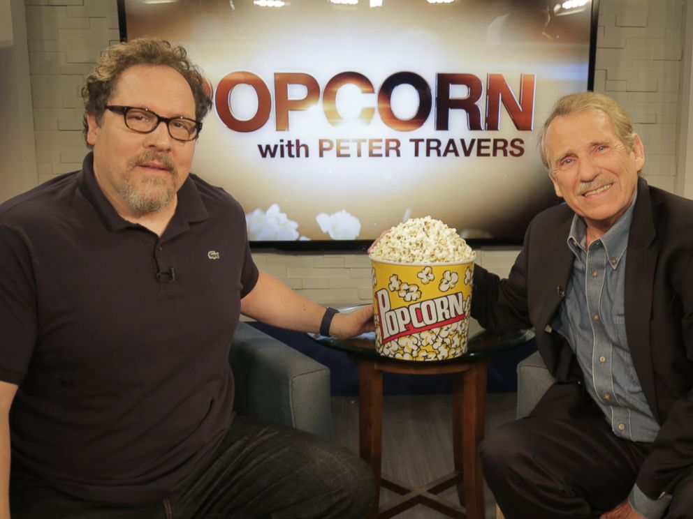 PHOTO: Jon Favreau and Peter Travers at the ABC Headquarters in New York, April 7, 2016.
