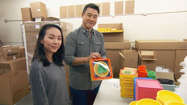 """PHOTO: Mark and Hannah Lim pitched their product, Lollacup, on ABCs """"Shark Tank."""""""