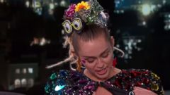 Miley Cyrus Wears Pasties and Rhinestones to Jimmy Kimmel Live!