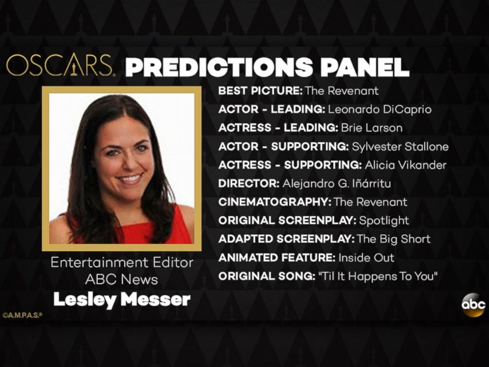PHOTO: Lesley Messer and her Oscar Predictions for 2016.
