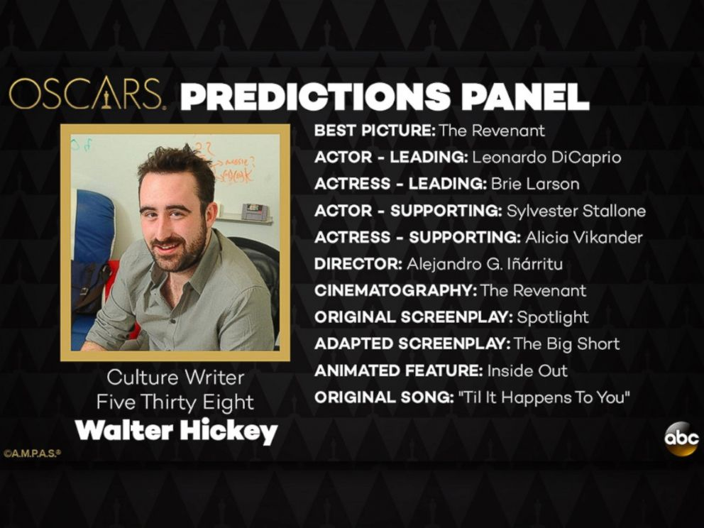 PHOTO: Walter Hickey and his Oscar Predictions for 2016.