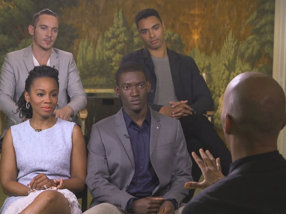 PHOTO: The cast of History Channels Roots remake talk about the process of making the iconic miniseries with ABC News Byron Pitts.