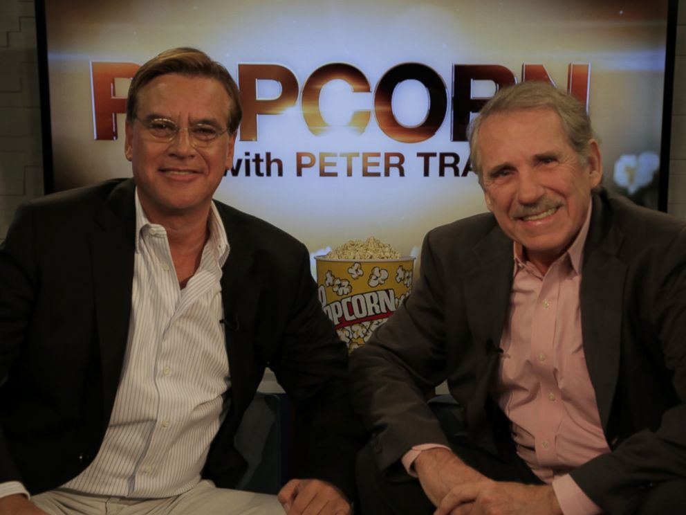PHOTO: Aaron Sorkin and Peter Travers on the set of Popcorn with Peter Travers