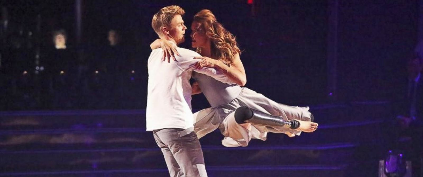"PHOTO: Derek Hough and Amy Purdy appear on ""Dancing With The Stars,"" March 31, 2014."