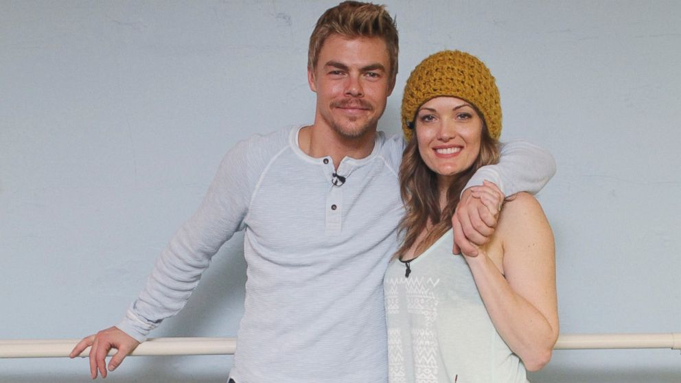 "PHOTO: Derek Hough, left, and Amy Purdy, right, are pictured during the ""Dancing with the Stars"" rehearsals."