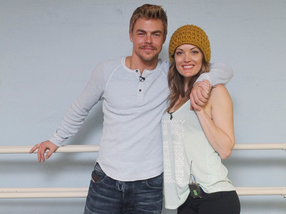 PHOTO: Derek Hough, left, and Amy Purdy, right, are pictured during the Dancing with the Stars rehearsals.
