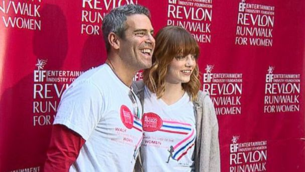 ABC andy cohen emma stone jt 140503 16x9 608 Emma Stone and Andy Cohen Host Run/Walk Supporting Womens Cancer Research