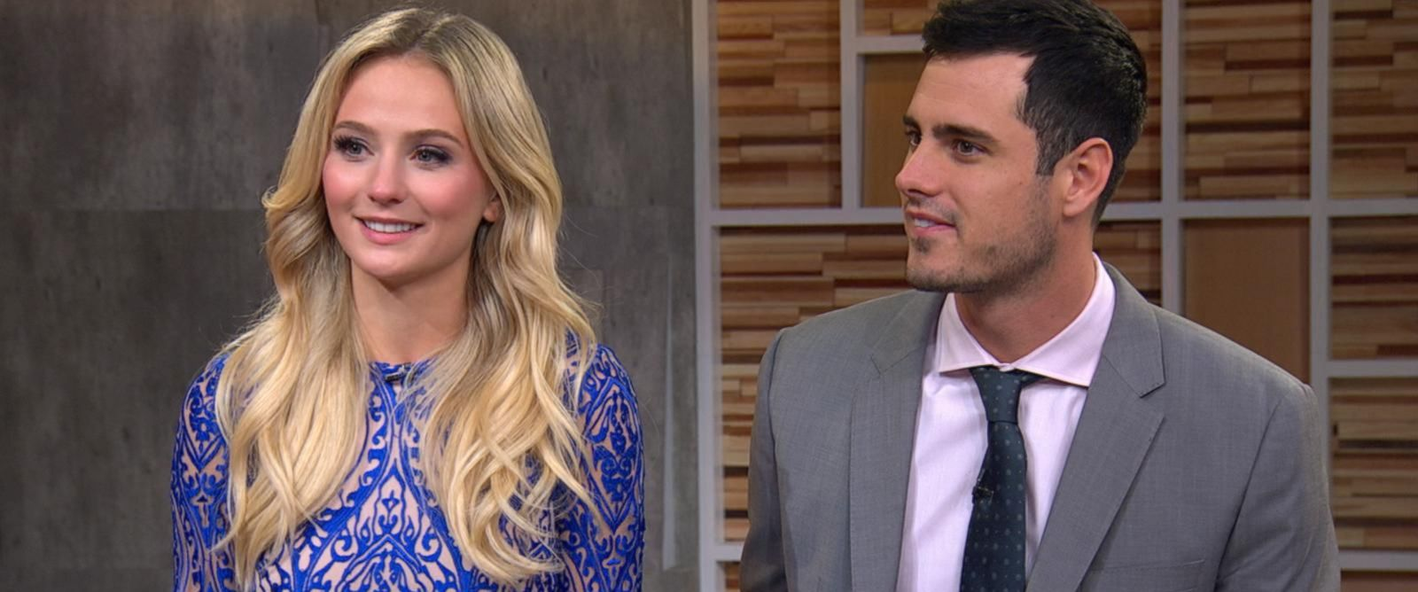 "PHOTO:The Bachelor couple Ben Higgins and Lauren Bushnell answer fans questions about their love, their time on the show, and their epic proposal on ""Good Morning America,"" March 15, 2016."