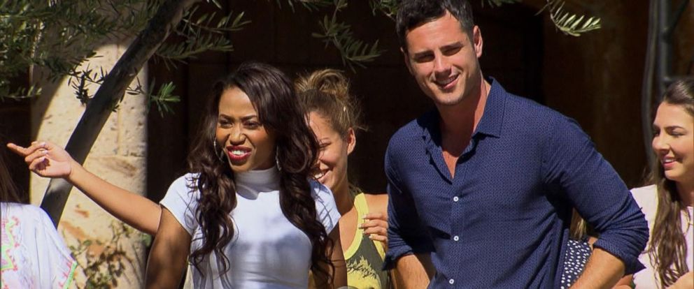 "PHOTO:Ben Higgins and Jubilee appear together on ""The Bachelor."""