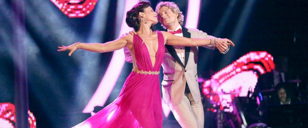 PHOTO: Charlie White and Sharna Burgess perform their dance on Dancing With The Stars.