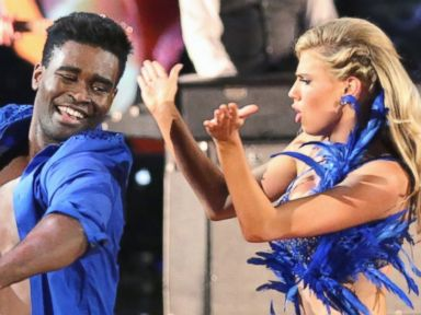 PHOTO: Keo Motsepe and Charlotte McKinney perform on Dancing with the Stars.