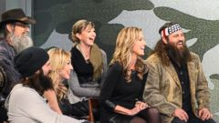 "PHOTO: Barbara Walters sits down with the Robertson clan, the stars of the smash hit reality TV show, ""Duck Dynasty."""