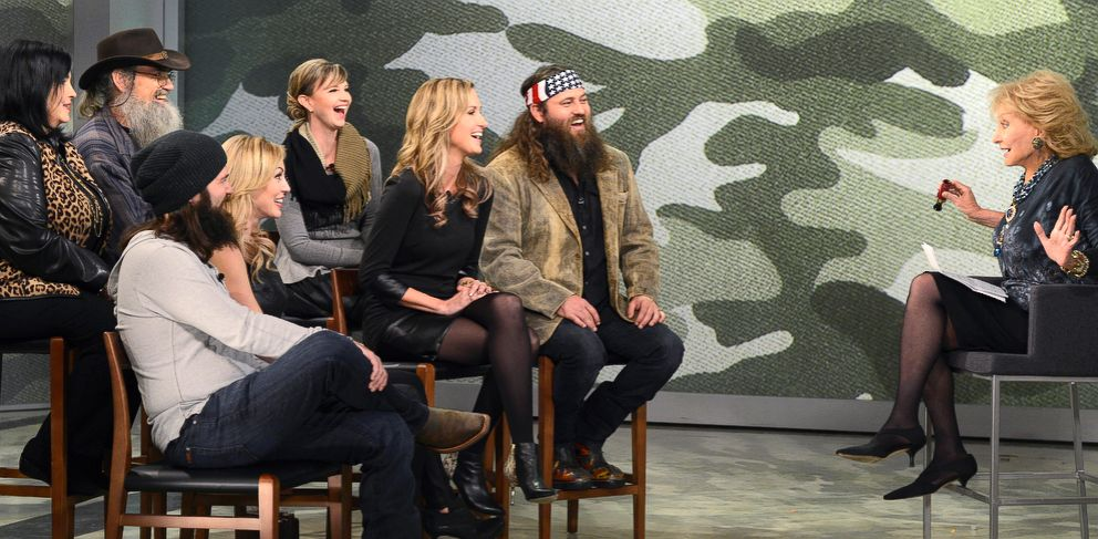 PHOTO: Barbara Walters sits down with the Robertson clan, the stars of the smash hit reality TV show, Duck Dynasty.
