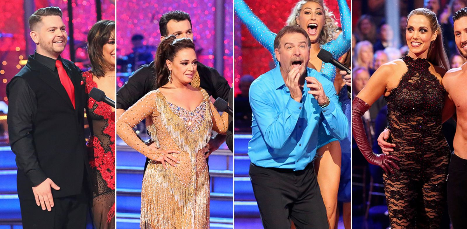 "PHOTO: Jack Osbourne, Leah Remini, Bill Engvall and Elizabeth Berkley Lauren compete on season 17 of ABCs ""Dancing With the Stars."""