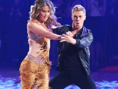 PHOTO: Amy Purdy and Derek Hough dance together during the season premiere of Dancing with the Stars, March 17, 2014.