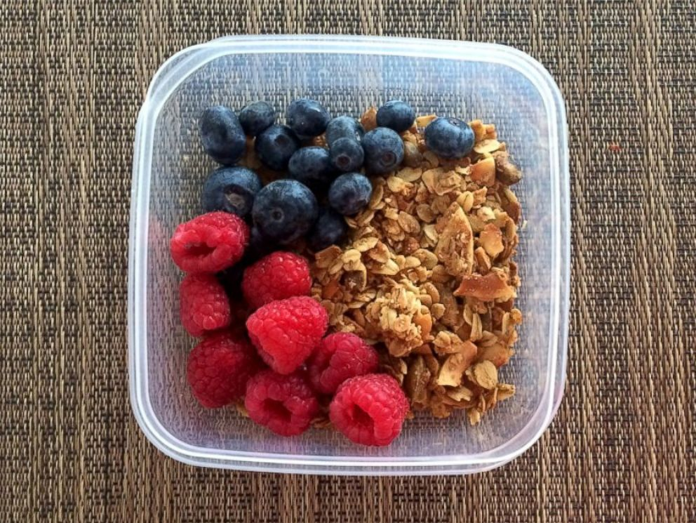 PHOTO: Early Bird granola with berries.