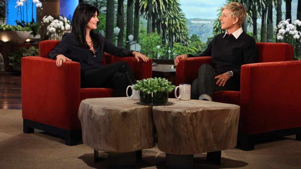 "PHOTO: Courteney Cox makes an appearance on ""The Ellen DeGeneres Show,"" Jan. 7, 2014."