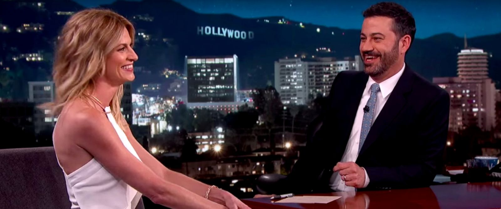"""PHOTO: Erin Andrews is seen here on """"Jimmy Kimmel Live!,"""" March, 16, 2016."""