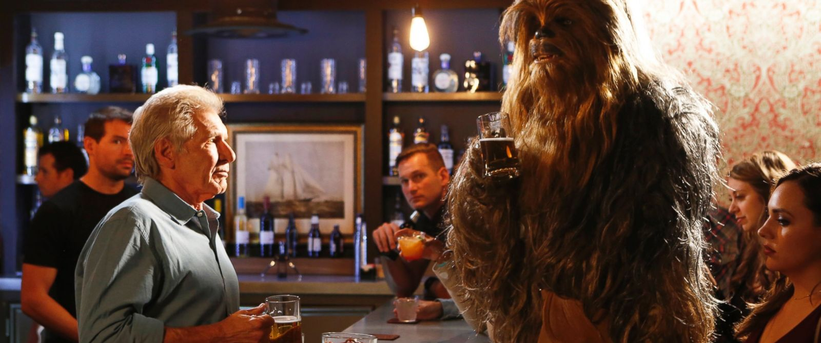 photo harrison ford and chewbacca appear in a skit on jimmy kimmel. Cars Review. Best American Auto & Cars Review