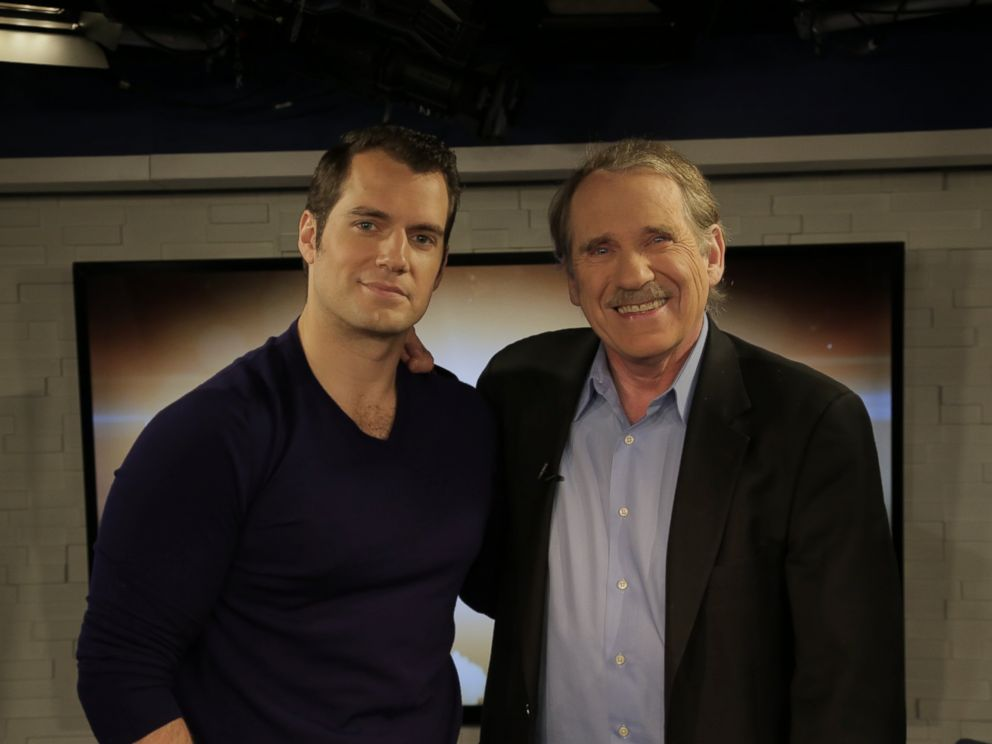 PHOTO: Henry Cavill and Peter Travers at the ABC Headquarters in New York, March 14, 2016.