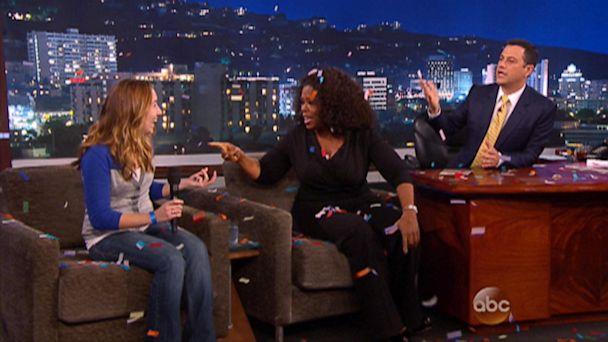 ABC jimmy kimmel oprah ml 130815 16x9 608 Watch Oprah Give Away A Car On Jimmy Kimmel Live