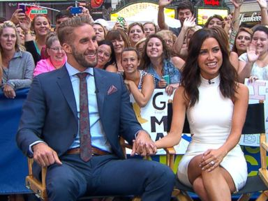 PHOTO: Kaitlyn and Shawn from The Bachelorette on Good Morning America, July 28, 2015, in New York.