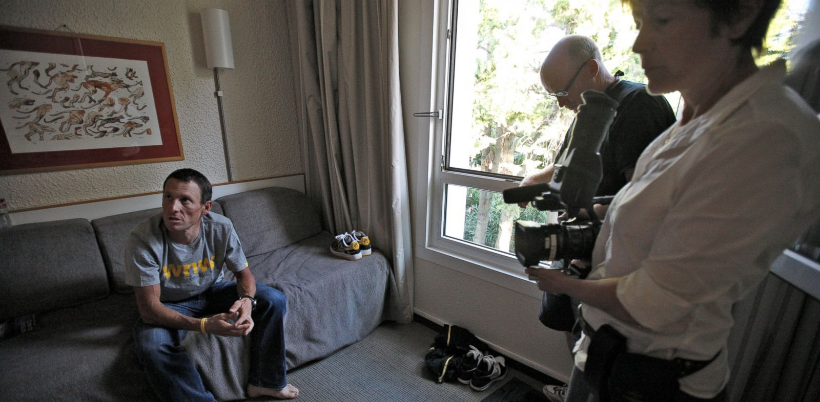 PHOTO: Academy Award-winning director Alex Gibney had remarkable access to Lance Armstrong before and after the cycling champion revealed his doping past.
