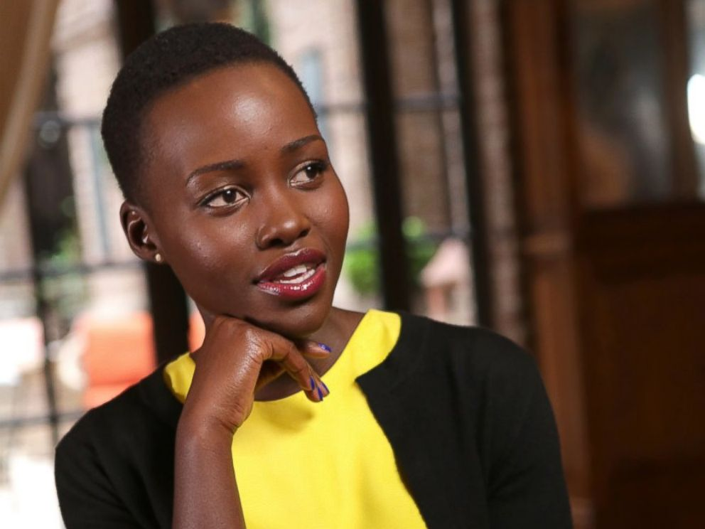 PHOTO: Academy Award-winner Lupita Nyongo is interviewed by Elizabeth Vargas, for Nightline, airing on the ABC Television Network.