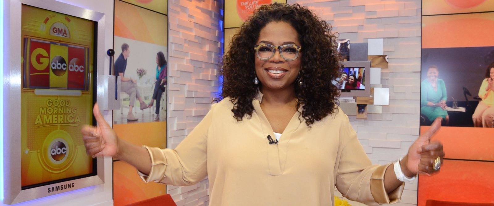"PHOTO: Oprah Winfrey appears on ""Good Morning America,"" Aug. 7, 2014."
