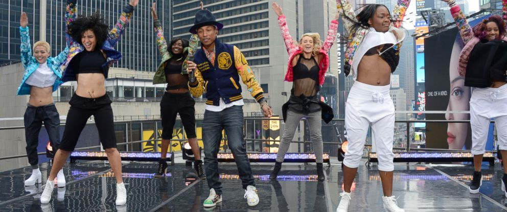 "PHOTO: Pharrell Williamss infectious hit, ""Happy,"" has become an international pop anthem with millions around the world clapping along, moving and grooving, and doing their own happy dances."
