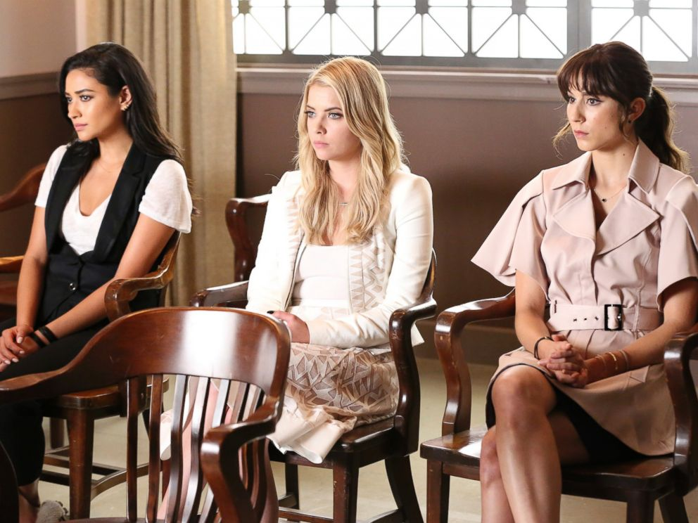 PHOTO: Shay Mitchell, Ashley Benson and Troian Bellisario in season six of Pretty Little Liars.