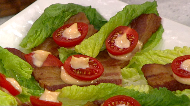 PHOTO: Clinton Kelly's romaine lettuce BLT appetizer recipe is shown here.