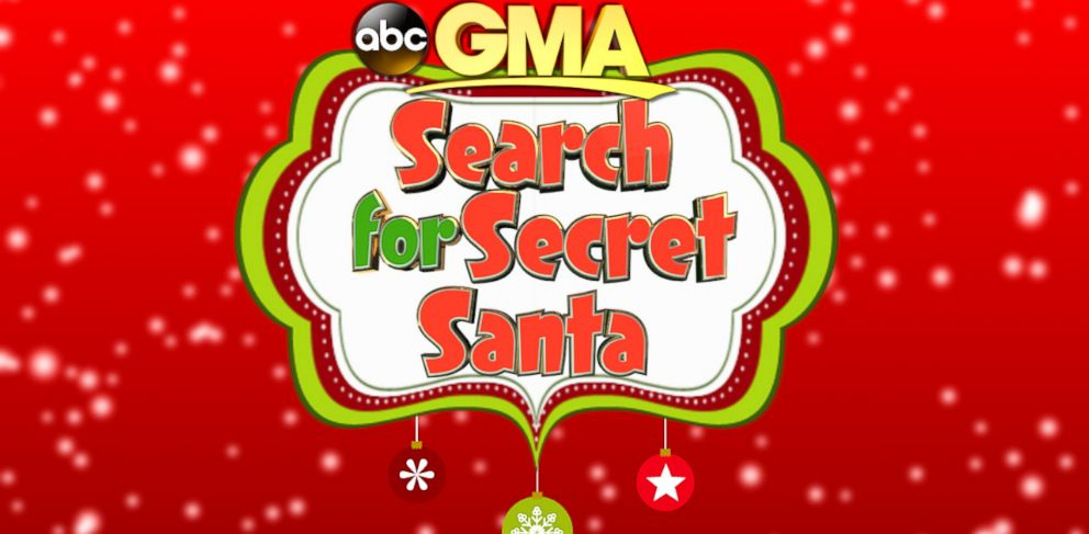 "PHOTO: Secret Santa is coming out of hiding and showing up on ""Good Morning America"" for three days."