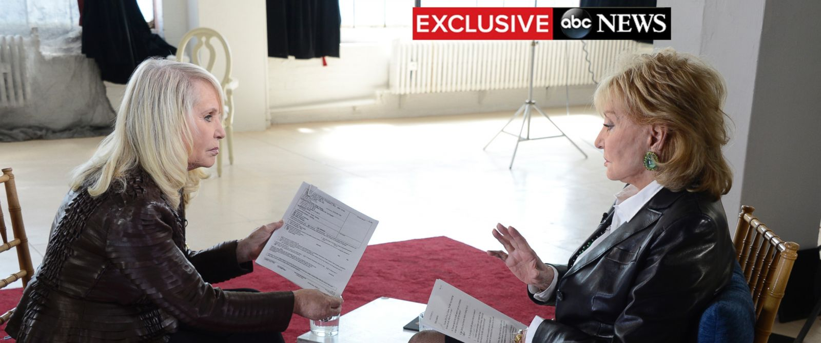 PHOTO: Barbara Walters sat down with Shelley Sterling in an ABC News exclusive interview, Sunday, May 11, 2014.
