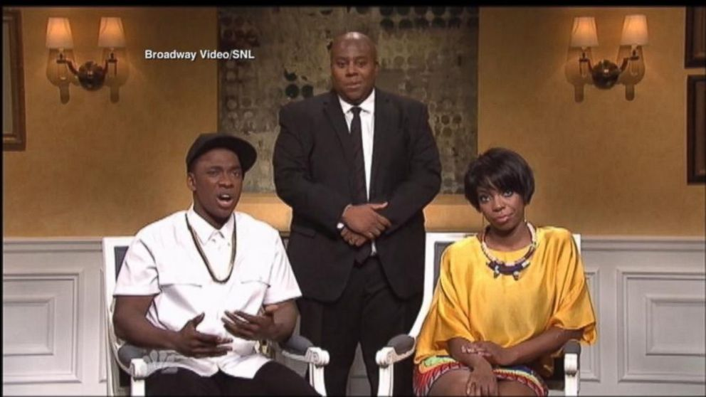 PHOTO: Jay Pharoah as Jay Z and Sasheer Zamata as Solange appear on SNL, May 17, 2014.
