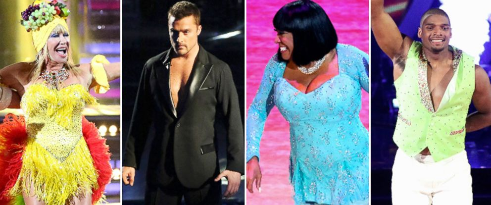 "PHOTO: Suzanne Somers, Chris Soules, Patti LaBelle and Michael Sam compete on season 20 of ABCs ""Dancing With the Stars."""