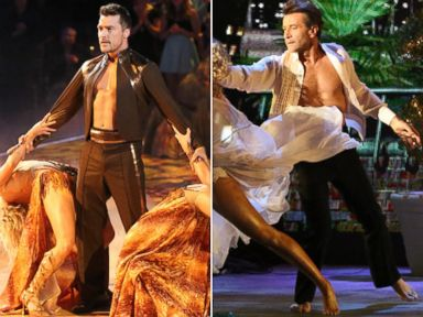 PHOTO: Chris Soules, left, and Robert Herjavec compete on season 20 of ABCs Dancing With the Stars.