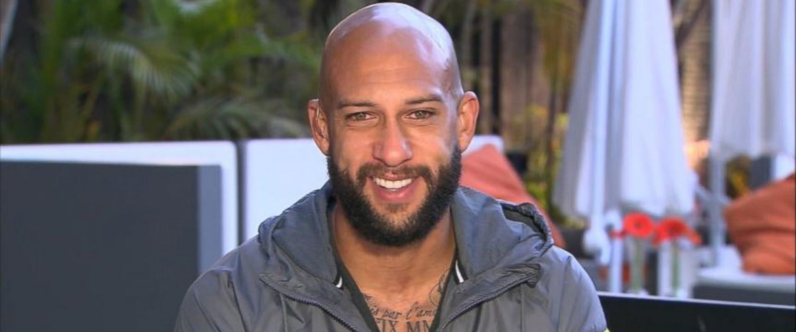 PHOTO: Tim Howard was interviewed on GMA, July 2, 2014.