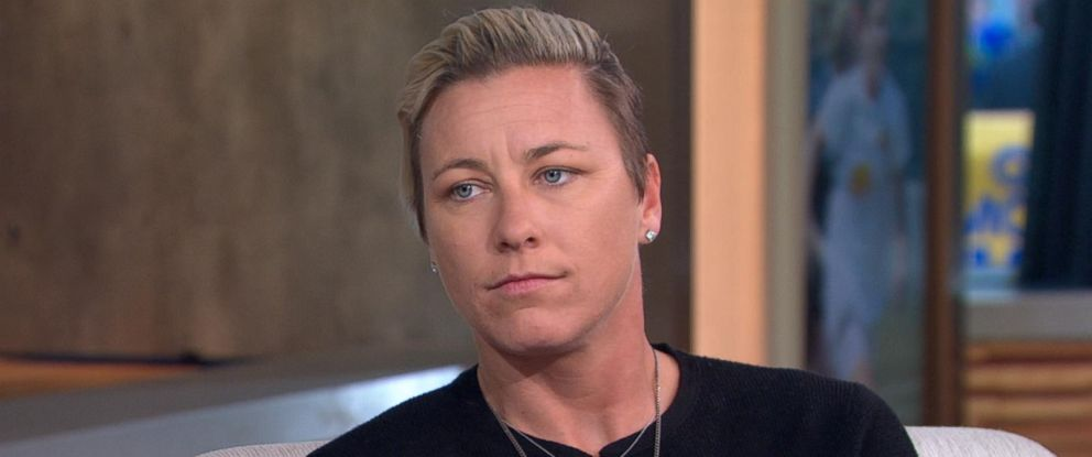 """PHOTO: Soccer star Abby Wambach opens up about her personal life and her new memoir, """"Forward: A Memoir,"""" on """"Good Morning America,"""" Sept. 13, 2016, in New York City."""