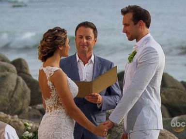 PHOTO: Marcus Grodd and Lacy Faddoul tied the knot in a surprise wedding officiated by Chris Harrison on the Season 2 premiere of Bachelor In Paradise.