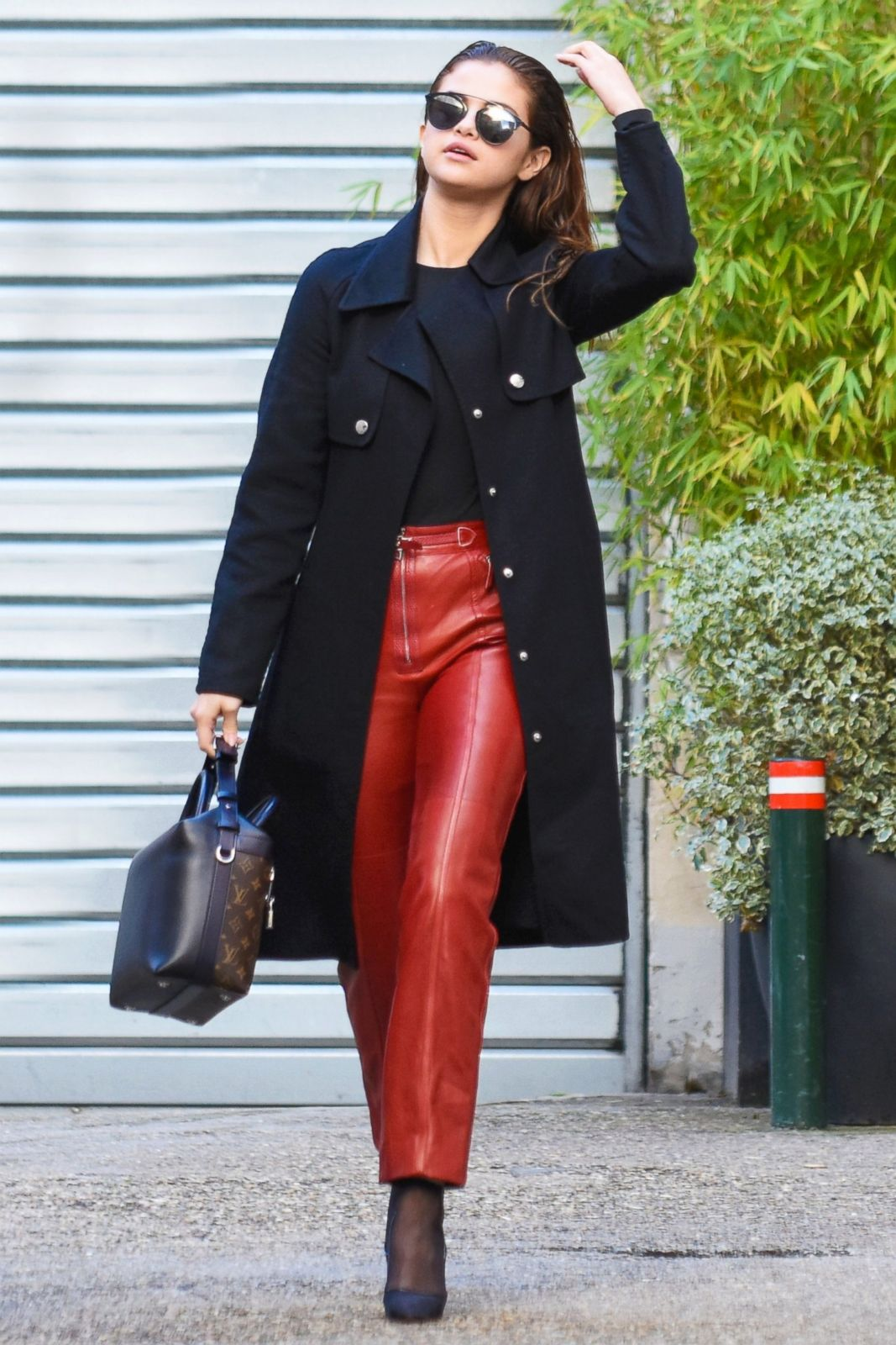 Selena Gomez Leather Pants