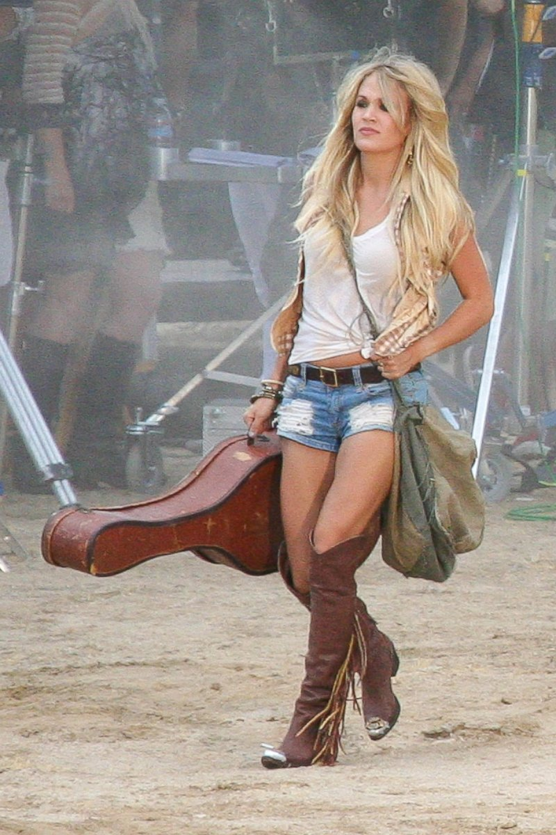 Carrie Underwood Shoots Her New Music Video in Daisy Dukes